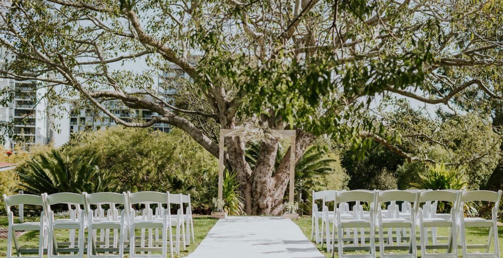Roma Street Park wedding arbour