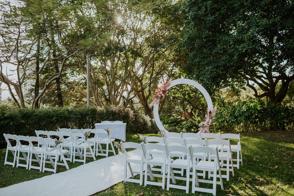 Roma Street Park wedding decor
