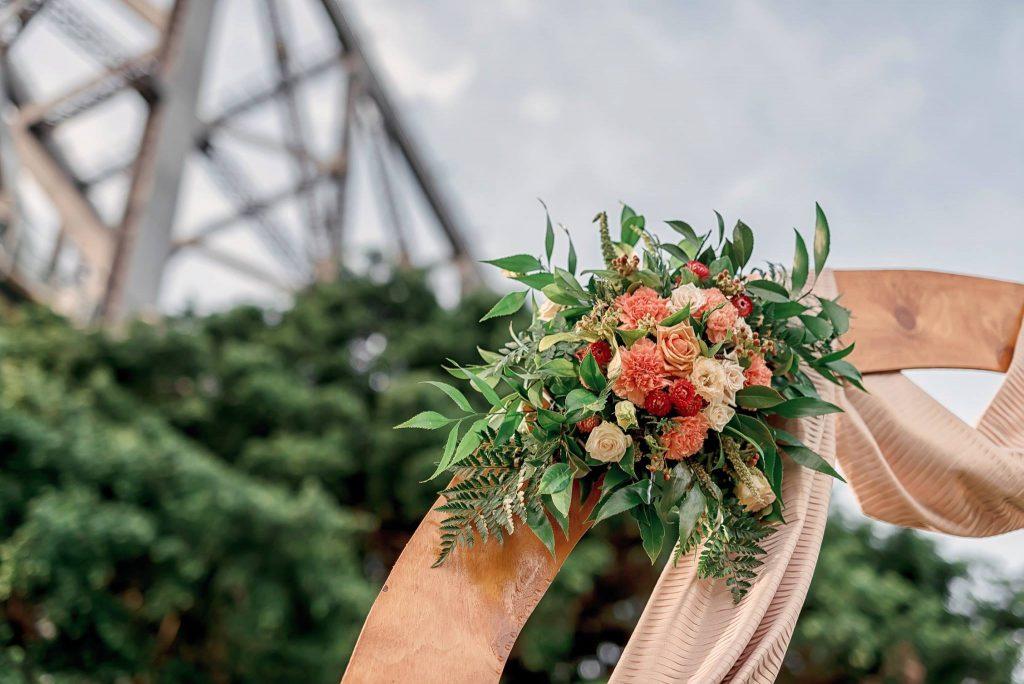 Wedding Ceremony Arbour flowers Brisbane
