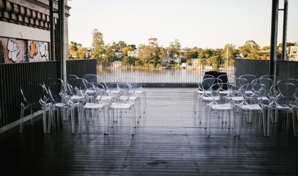 clear ghost chair hire Brisbane