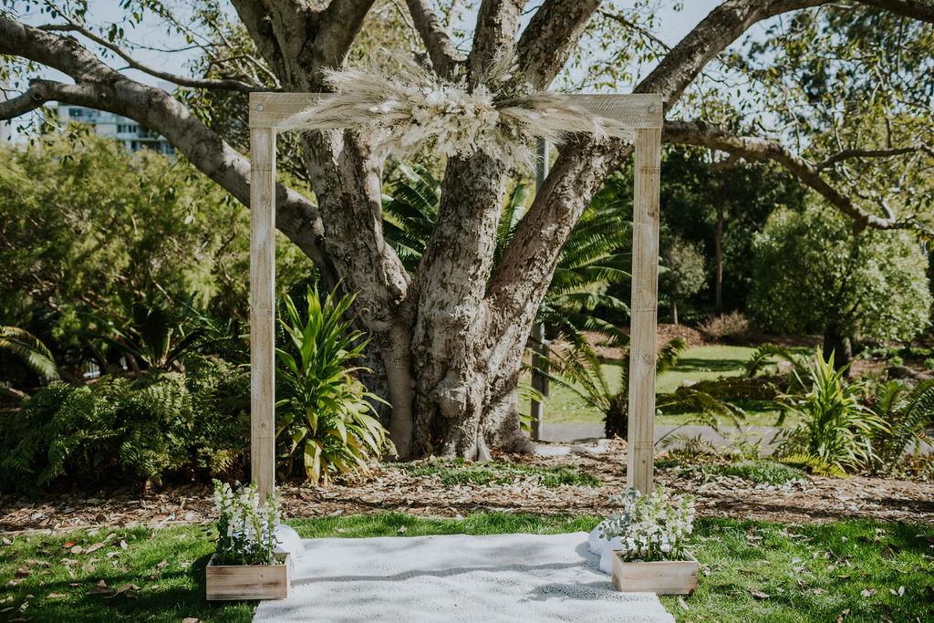 Brisbane wedding ceremony arch