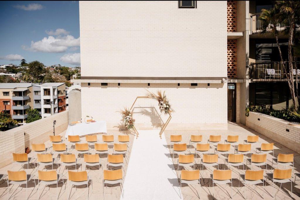 Calile Hotel Amphitheatre wedding