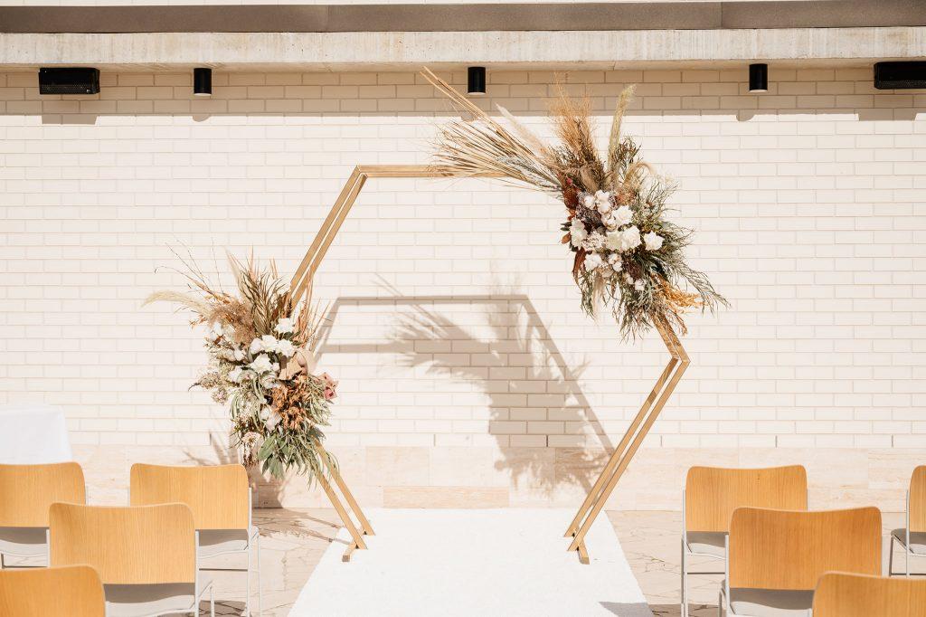 Hexagonal wedding arbour