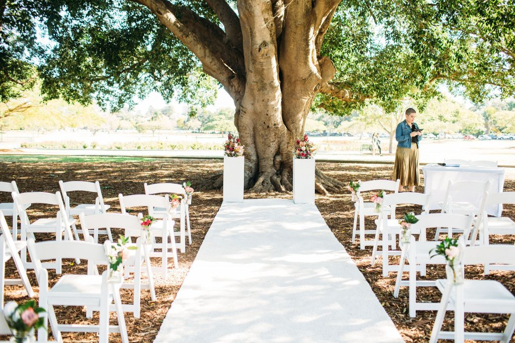 New Farm Park wedding setup