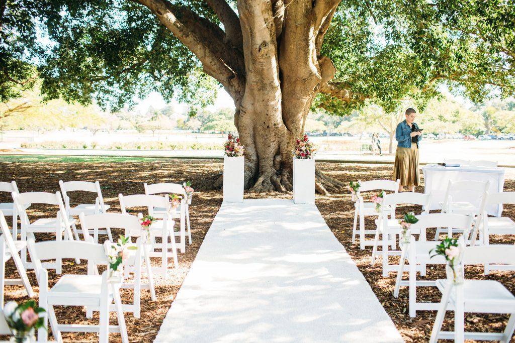 New Farm Park wedding setup