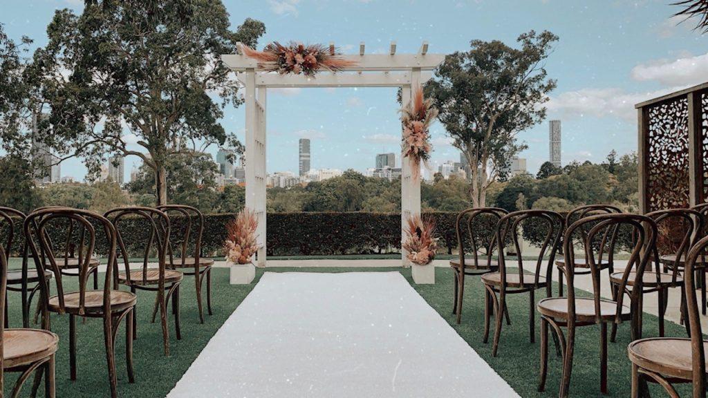 Victoria Park wedding Courtyard decoration