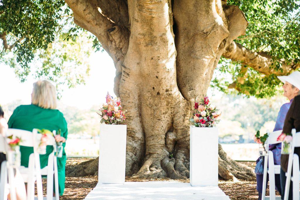 wedding aisle plinth hire Brisbane