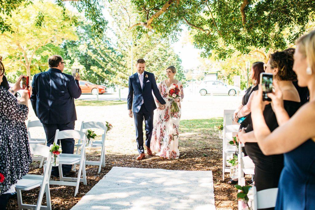 wedding ceremony at New Farm Brisbane