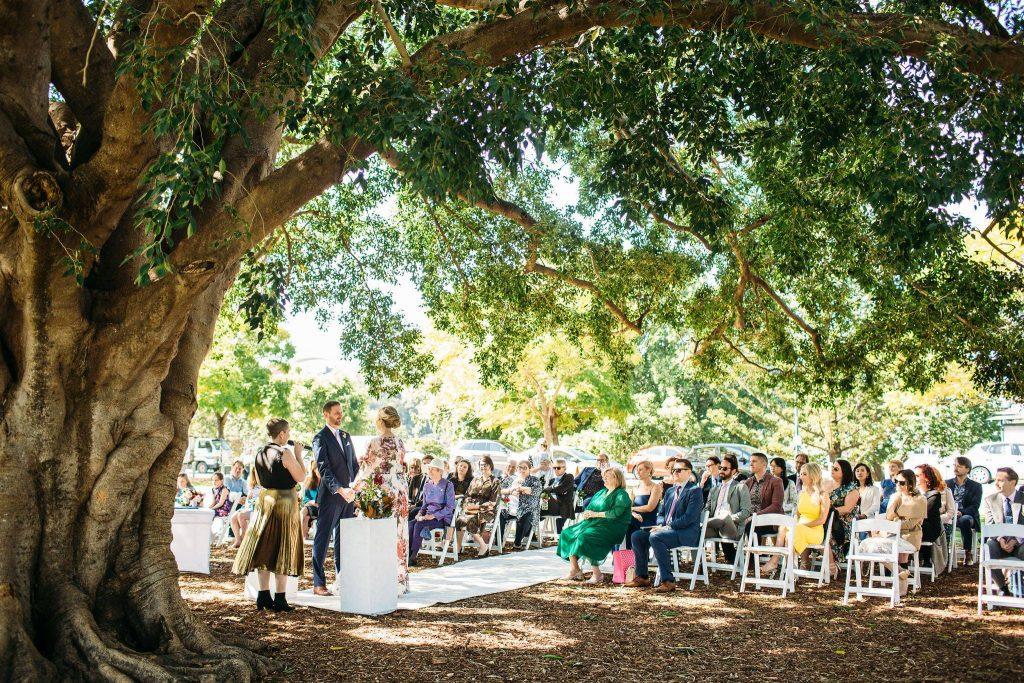 wedding at New Farm Park