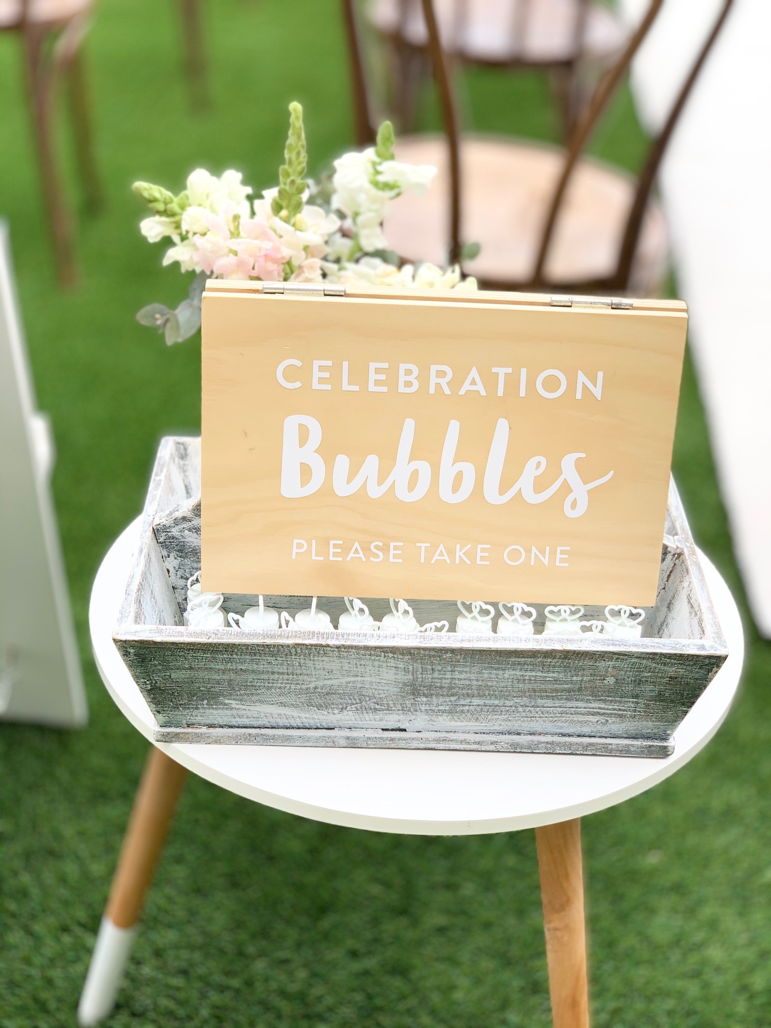 wedding ceremony decoration bubbles