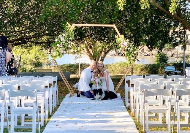 Brisbane Powerhouse wedding ceremony setup