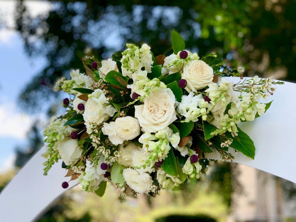 Wedding arbour flowers Brisbane