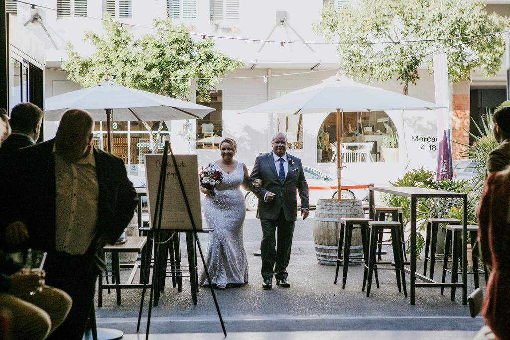 City Winery wedding ceremony decoration