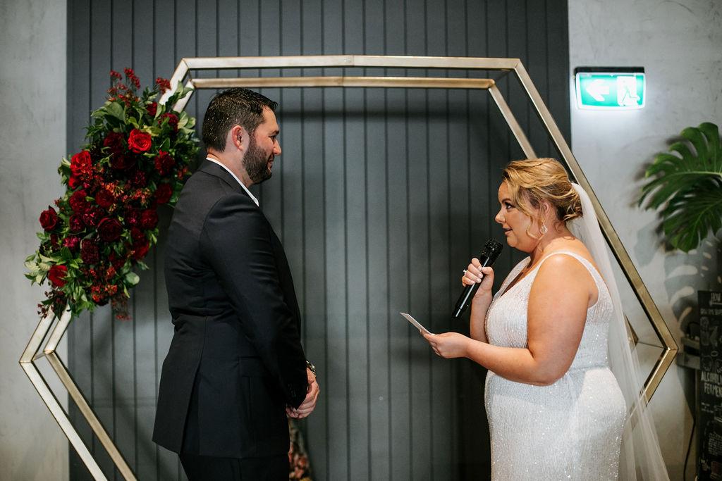 City Winery wedding ceremony styling