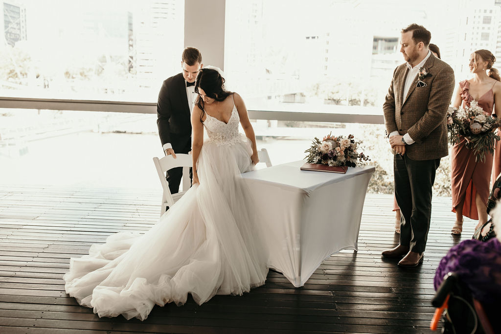 wedding signing table Brisbane