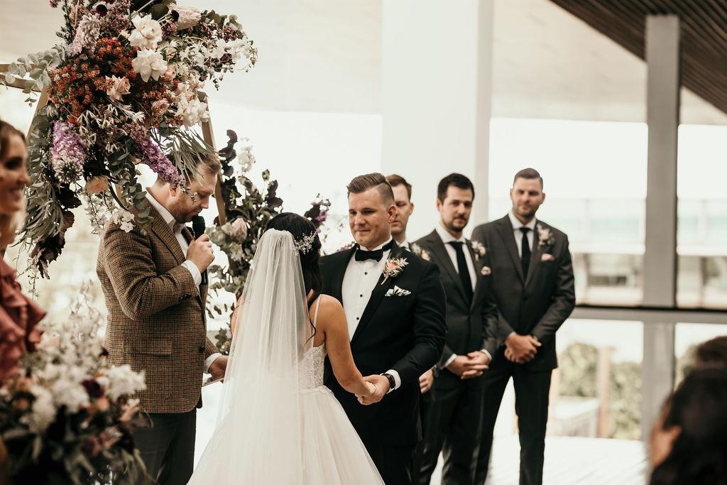 Hexagon wedding arbour Brisbane