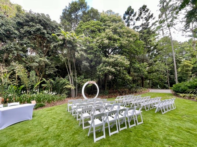 Lychee Lawn Mt Coot-tha wedding hire