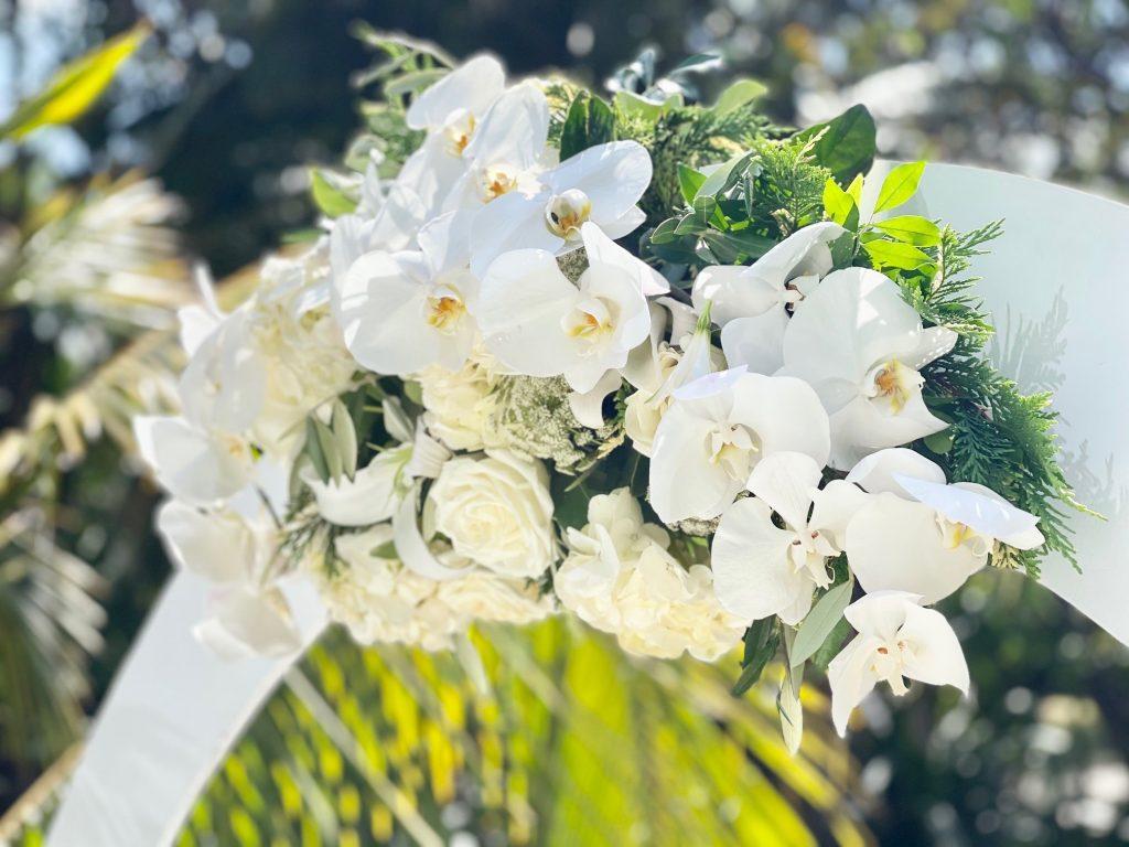 sbane Botanic gardens wedding arch hire