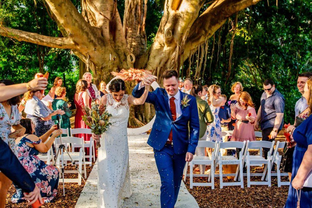 Brisbane City Botanic Gardens wedding decor hire
