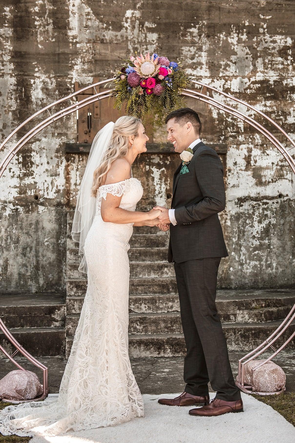 Fort Lytton wedding ceremony