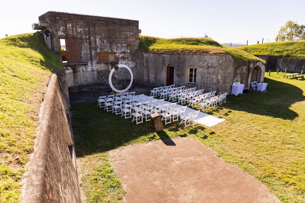 Fort Lytton wedding decor