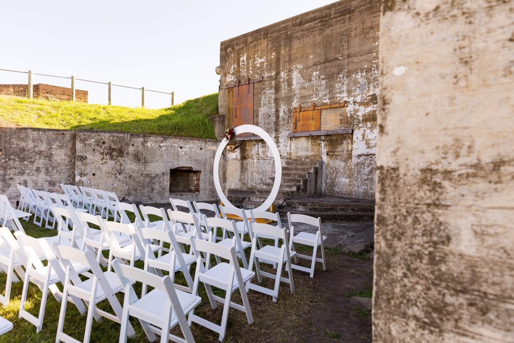 Fort Lytton wedding decoration