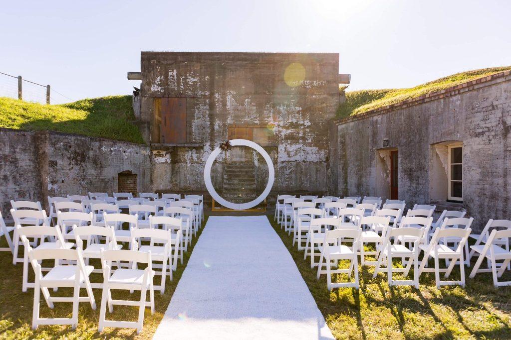 Fort Lytton wedding styling