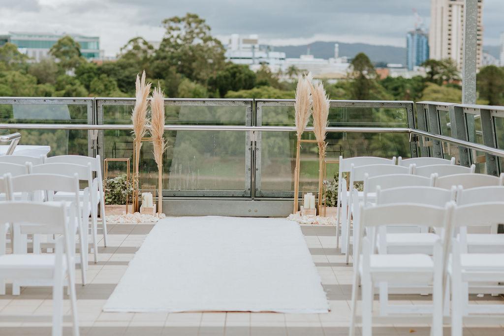 Kangaroo Point wedding ceremony decoration