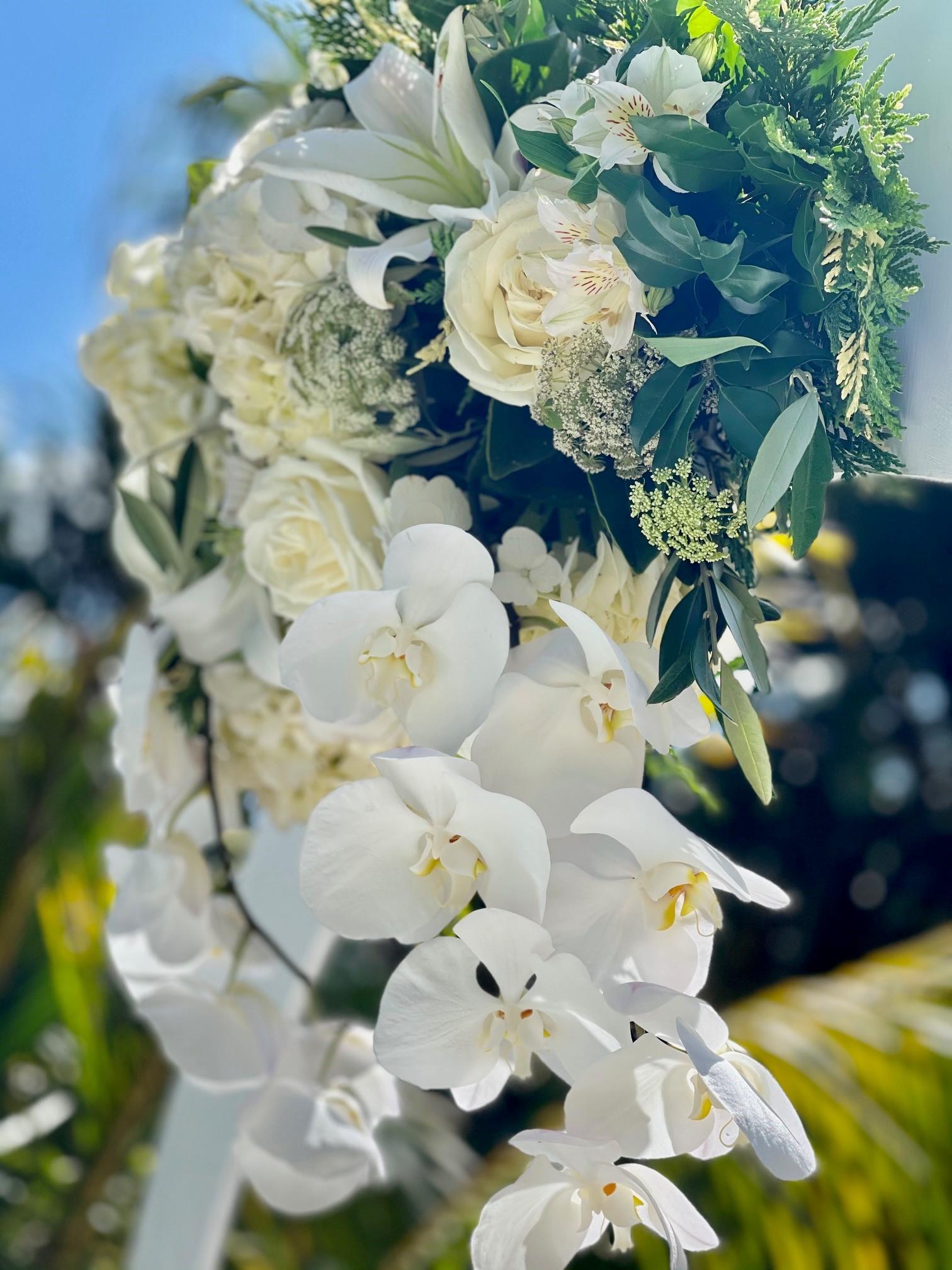 wedding arch flowers Brisbane
