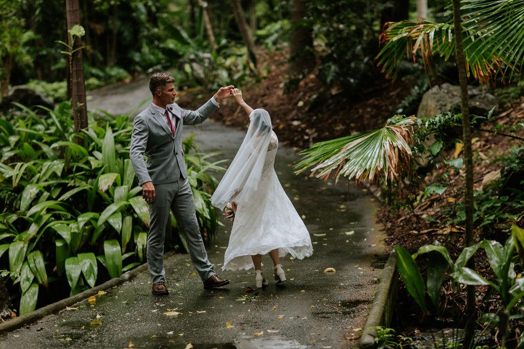wedding photography Brisbane botanic gardens