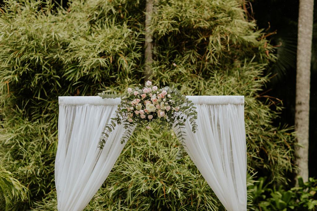 wedding arch Brisbane Botanic Gardens