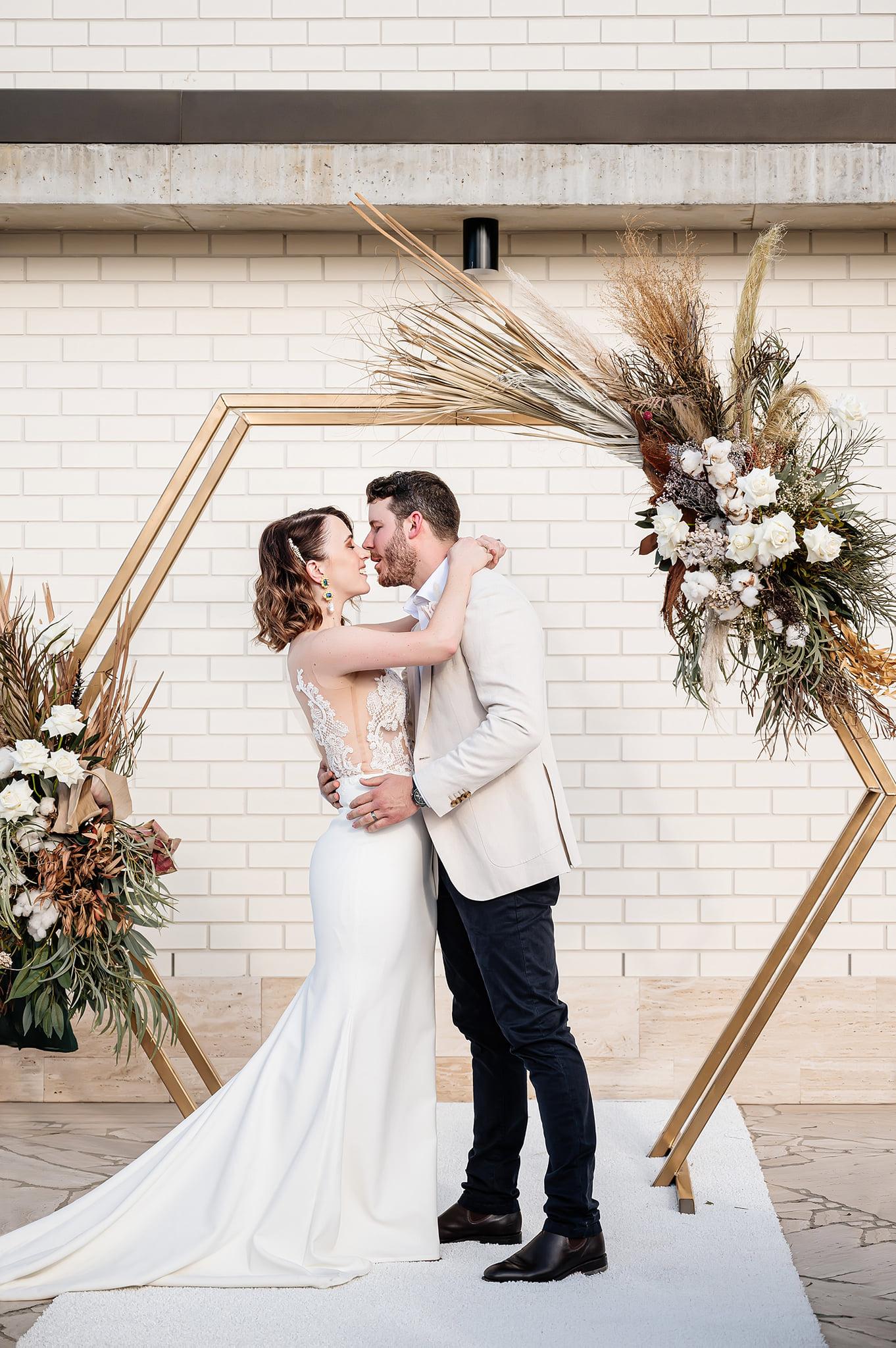 Calile Hotel wedding ceremony arbour