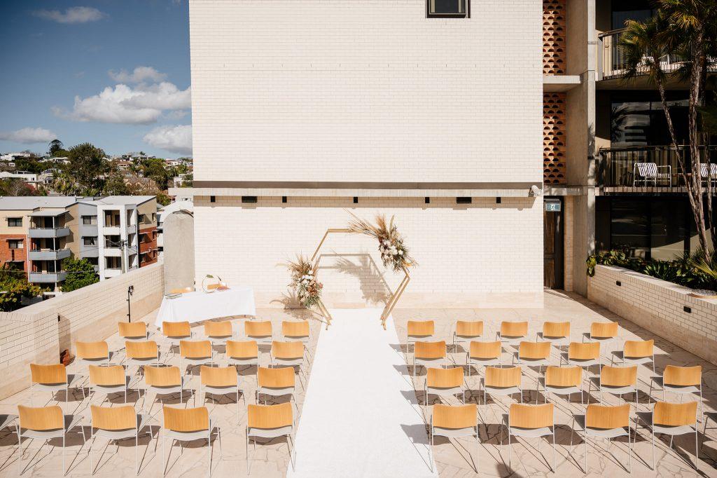 Calile Hotel wedding ceremony setup
