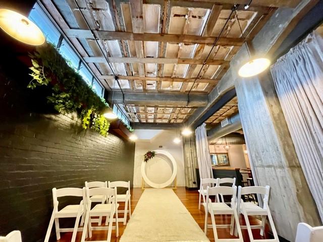 Newstead Underground wedding ceremony