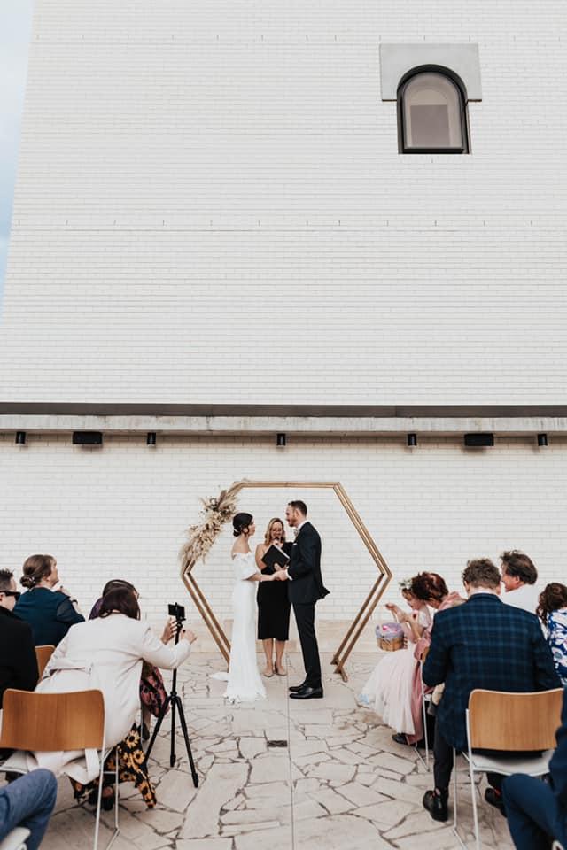 Calile Hotel amphitheatre wedding ceremony