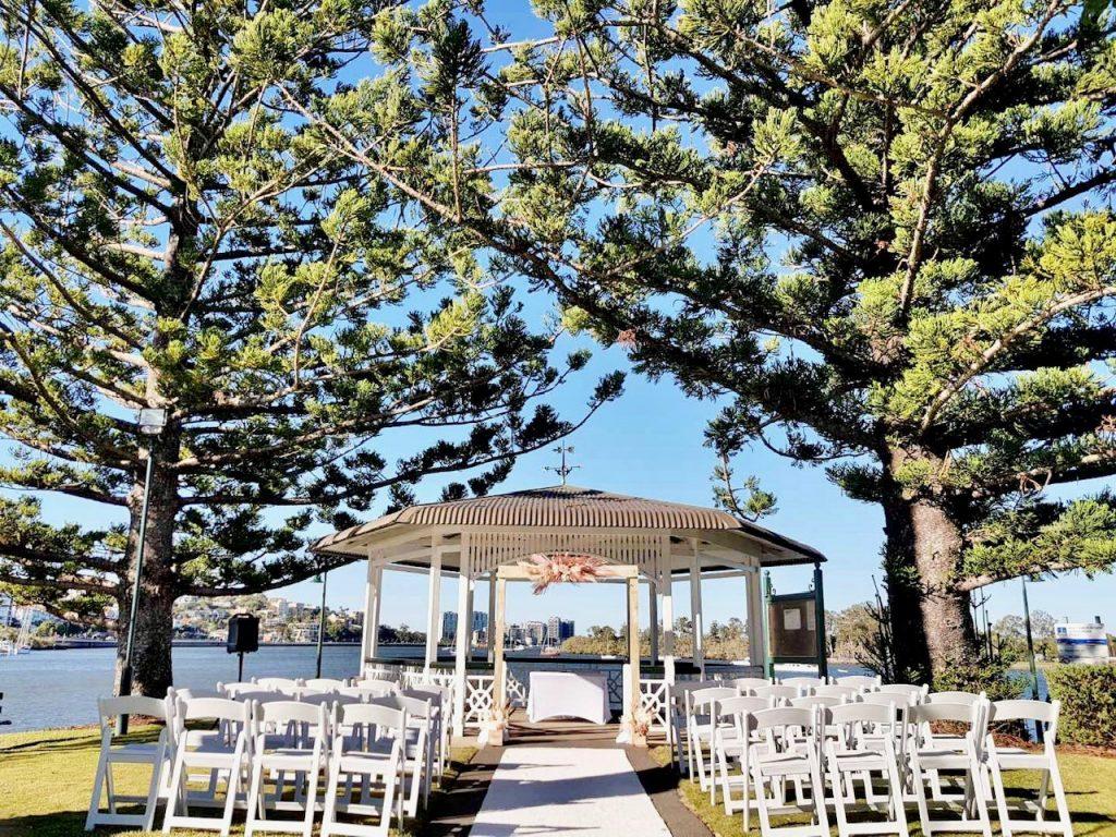 Newstead rotunda wedding decoration