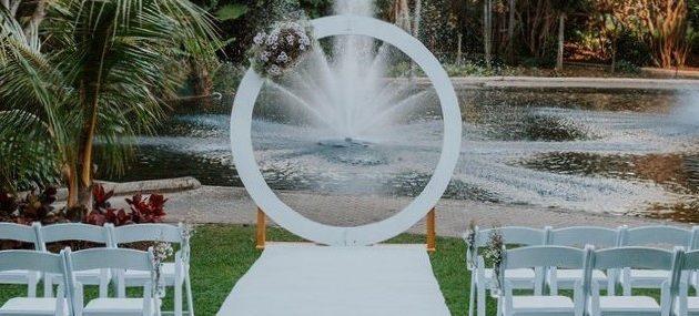 Brisbane City Botanic gardens wedding styling