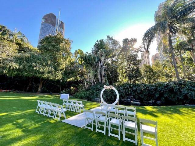 City Botanic gardens wedding lawn