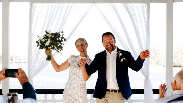 Newstead Rotunda wedding ceremony decor