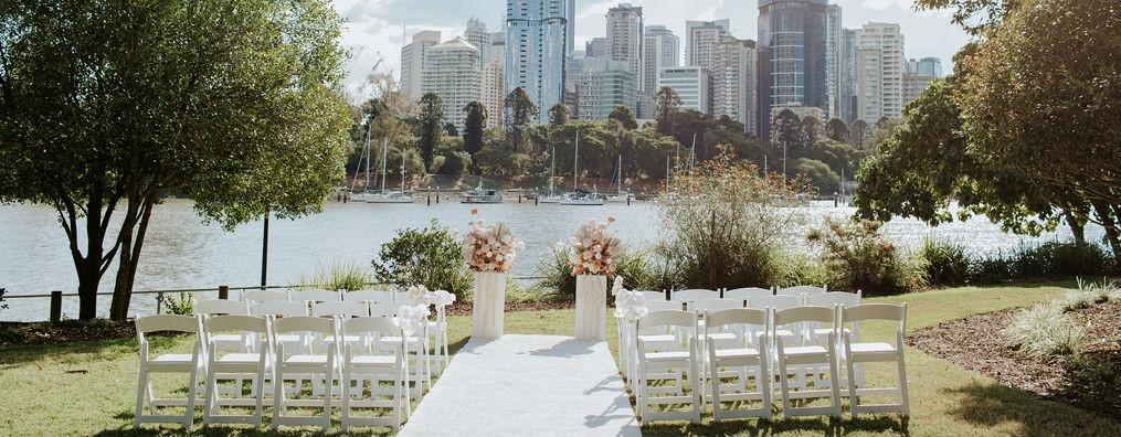 Brisbane riverside wedding decor