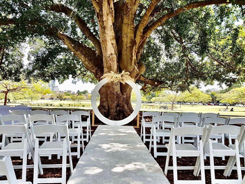 round circle wedding arch hire Brisbane